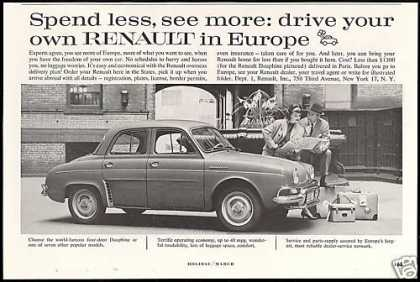 Renault Dauphine Photo Europe Travel Car (1959)
