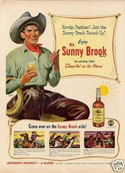Old Sunny Brook Whiskey (1950)
