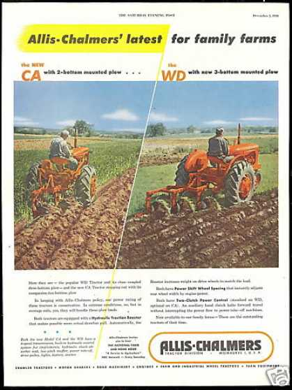 Allis Chalmers CA WD 2 Photo Tractor Vintage (1950)