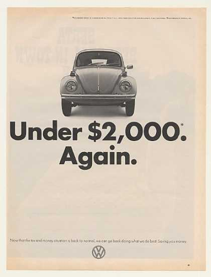 VW Volkswagen Sedan 111 Beetle Under $2,000 (1972)
