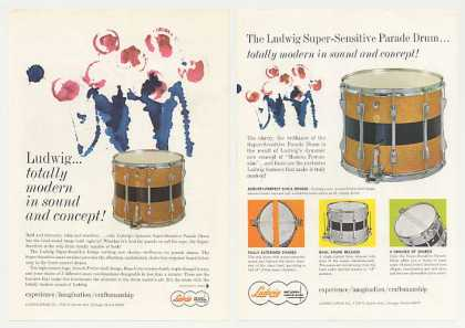 Ludwig Super-Sensitive Parade Drum 2-Page (1964)
