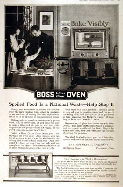 Boss Glass Door Oven (1918)