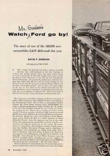 """Watch Mr. Goodson's Ford Go By"" Article/l&n (1962)"