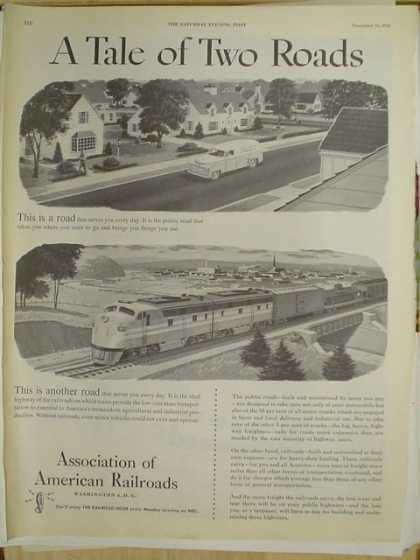Association of American Railroads. A tale of two roads (1952)