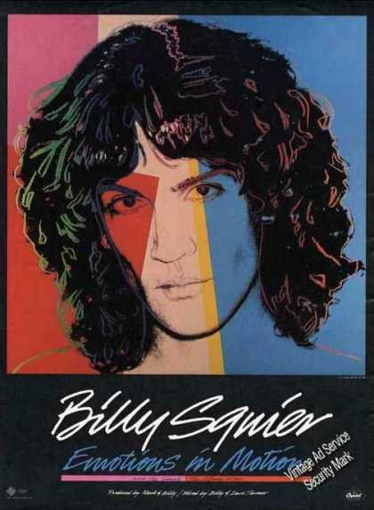 "Nice Billy Squier Graphic ""Emotions In Motion"" (1982)"