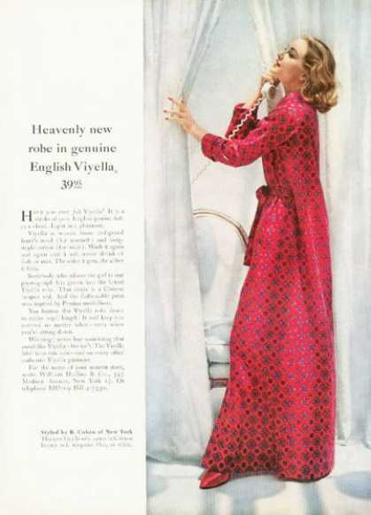 English Viyella Chinese Robe Ad Styled By Cohen (1958)