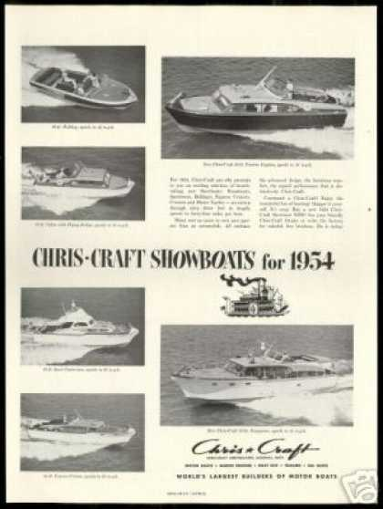 Chris Craft Showboats 6 Boats Photo (1954)