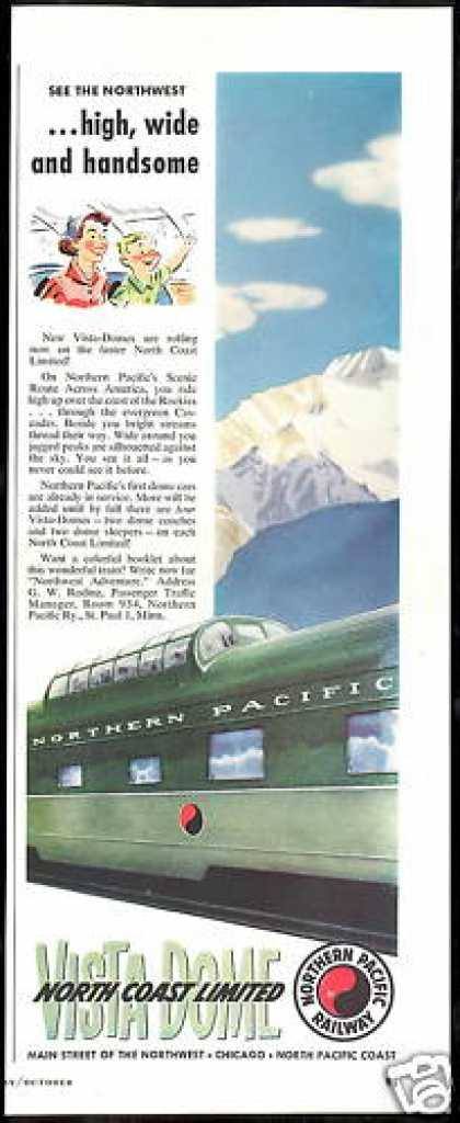 Northern Pacific Railway Vista Dome Train (1954)