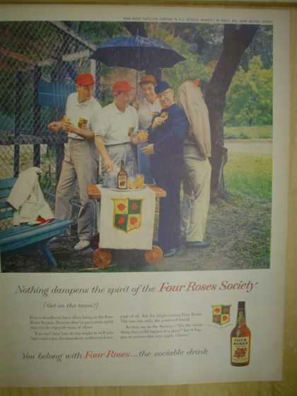 Four Roses Whiskey. The Four Roses Society (1958)