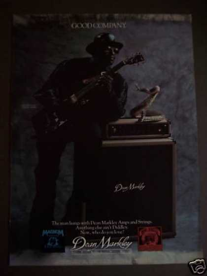 Bo Diddley W/ Snake Dean Markley Amp & Strings (1988)