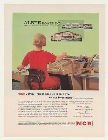 Albee Homes NCR Compu-Tronic Accounting Machine (1963)