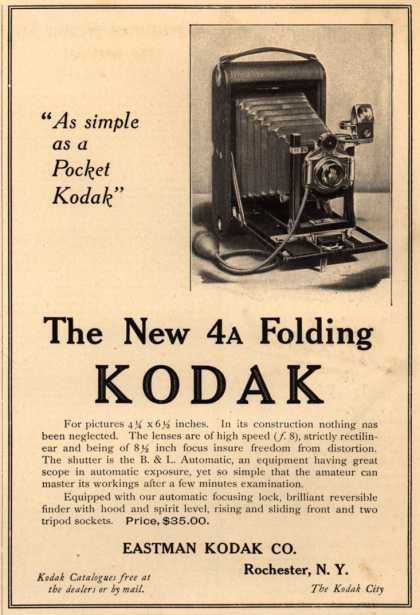 Kodak – The New 4A Folding Kodak (1906)