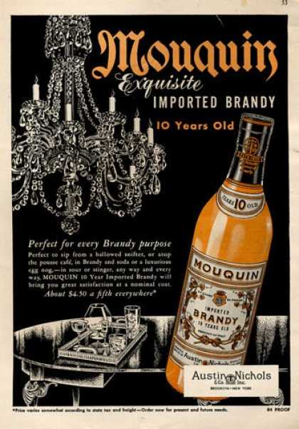 Mouquin Brandy Bottle (1953)
