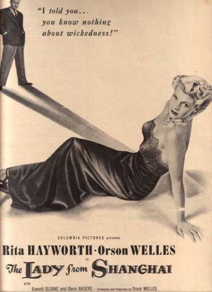 The Lady from Shanghai (Rita Hayworth and Orson Welles) (1948)