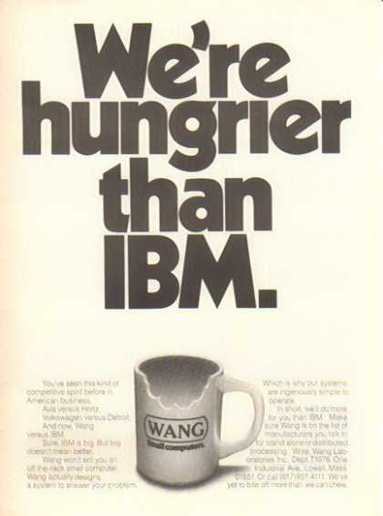 WANG Computers – We're hungrier than IBM (1986)