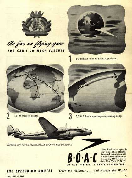 British Overseas Airways Corporation – As Far As Flying Goes, You Can't Go Much Farther (1946)