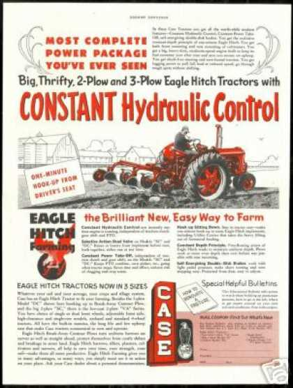Case Eagle Hitch Farm Tractor Vintage (1953)