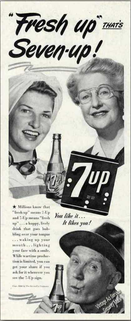 Fresh Up That's Seven-up 7up (1944)