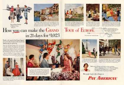 Pan American Grand Tour of Europe Detail (1953)