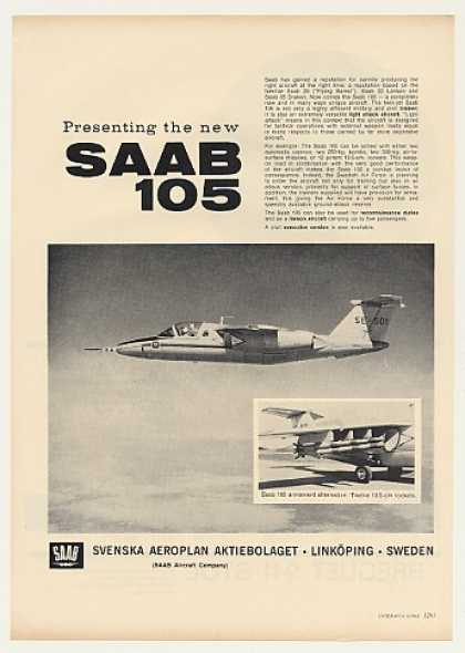 Saab 105 Twin-Jet Aircraft Photo (1963)