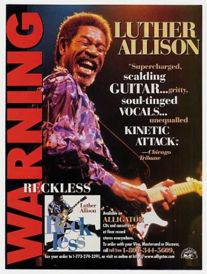 Luther Allison Reckless Album Promo Photo (1997)