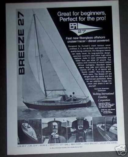 Breeze 27 Cruiser/racer Boat Sailboat (1970)