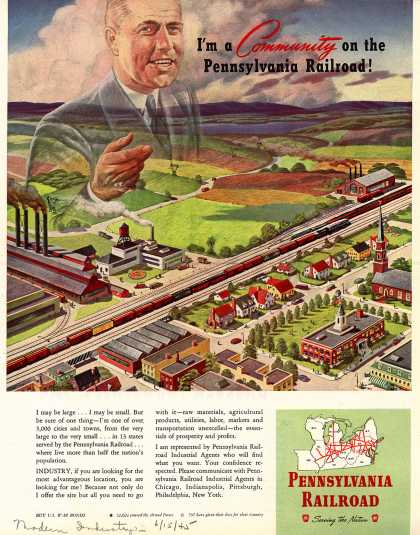 Pennsylvania Railroad – I'm a Community on the Pennsylvania Railroad (1945)