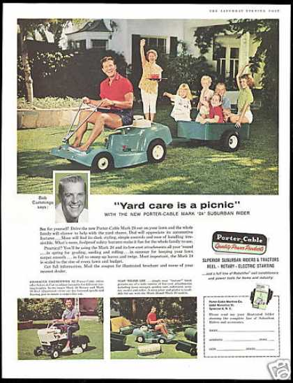 Porter Cable Riding Lawn Mower Bob Cummings (1960)