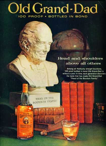 Old Grand Dad Bourbon Whiskey C (1960)