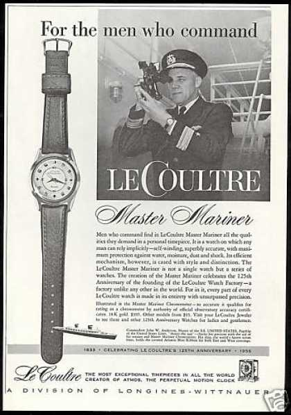 LeCoultre Master Mariner Watch 125 Anniversary (1958)