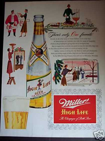 Miller High Life Beer Holidays Art (1951)