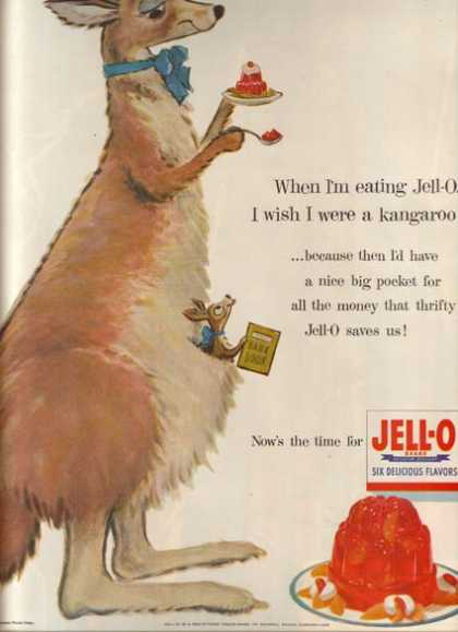 "Jello's ""When I'm eating Jell-O, I wish I were a kangaroo"" (1954)"
