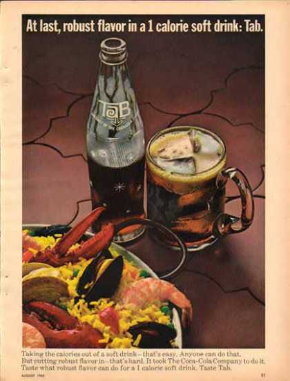 TAB Soft Drink – with Seafood – Sold (1965)