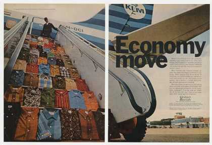 Arrow Shirts KLM Stewardess United Aircraft 2-P (1968)
