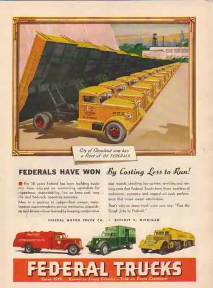 Federal Trucks – A.E. City of Cleveland – Sold (1948)