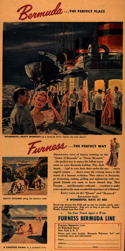 Furness Bermuda Line's Bermuda – Bermuda...the perfect place Furness...the perfect way (1954)