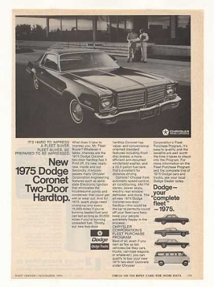 '74 1975 Dodge Coronet 2-Door Hardtop Fleet Car (1974)