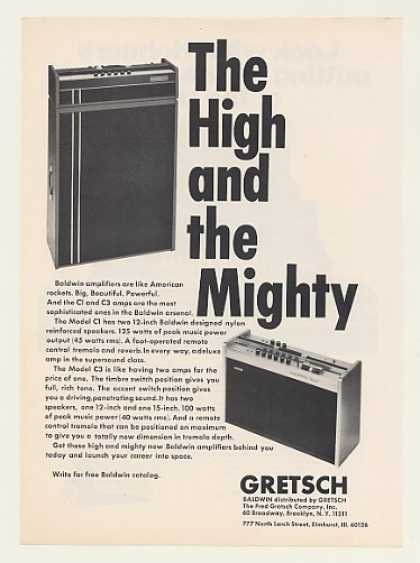 Gretsch Baldwin C1 C3 Amplifiers Amps (1970)