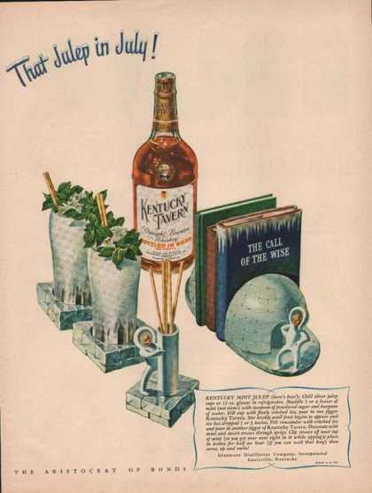 That Julep In July Kentucky Tavern Whiskey (1946)