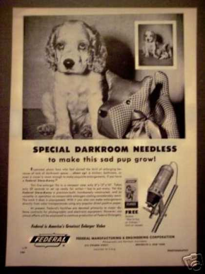 Cocker Spaniel Puppy Federal Photo Enlarger (1952)
