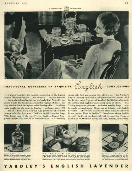 Yardley & Co., Ltd.'s Yardley's English Lavender Soap – Traditional Guardians of Exquisite English Complexions (1932)