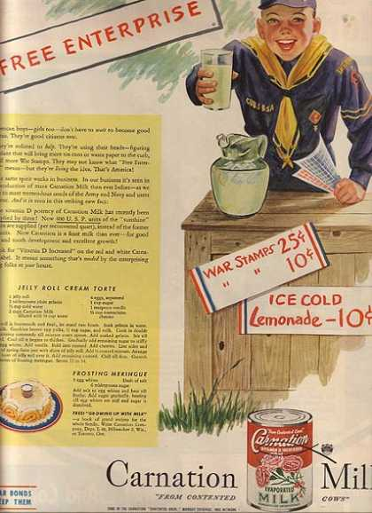 Carnation's Evaportated Vitamin D Increased Milk (1945)