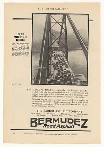 Bear Mountain Bridge Opening Bermudez Asphalt (1925)