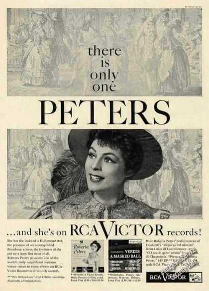 Roberta Peters On Rca Victor Records Photo (1956)