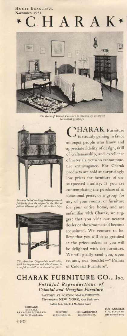 Charak Bedroom Furniture (1931)