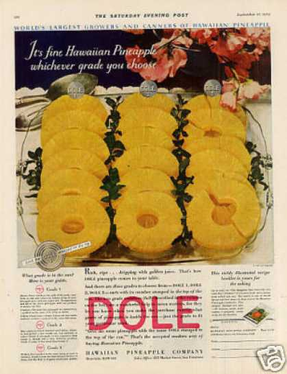 Dole Pineapple Color (1930)