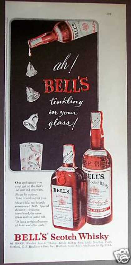 Bell's 12yo Scotch Whiskey (1953)
