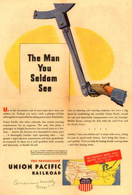 Union Pacific Railroad – The Man You Seldom See (1945)