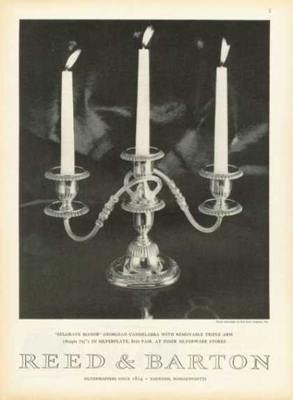 Reed Barton Silverplate Candelabra – Photo- (1958)