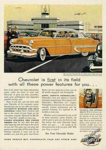 "Chevrolet Bel Air 4-door Sedan ""First In Field"" (1954)"